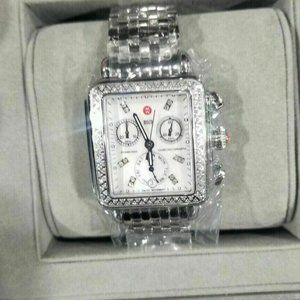 Michele Mother of Pearl 120 Diamonds Ladies Watch